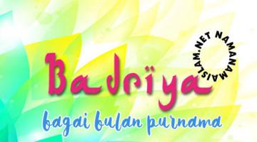 maksud nama badriya